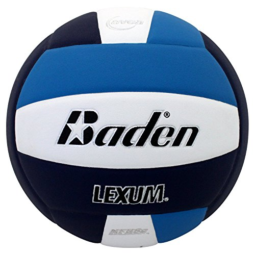 Molten Lite Volleyball - Baden Lexum Comp Official Advanced Microfiber Composite Game Volleyball (Navy/Royal/White)