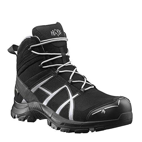 HAIX Black Eagle Safety 40 Mid black/silver Bequeme Arbeitskleidung: Sicherheitsschuhe für Handwerk und Industrie