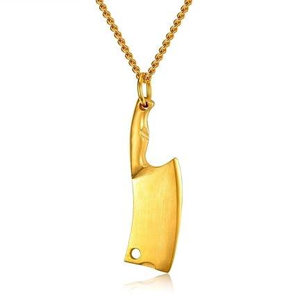 Amazon.com: Weiwei – Collar con colgante de cuchillo de ...