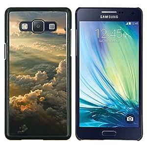 Sunset Sky- Metal de aluminio y de plástico duro Caja del teléfono - Negro - Samsung Galaxy A5 / SM-A500