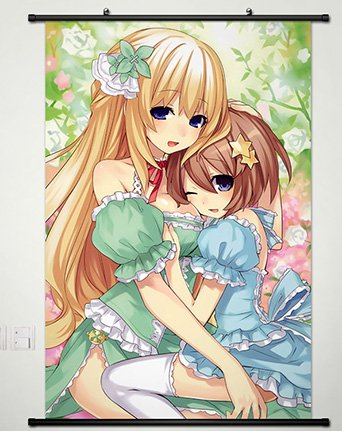Choujigen Game Neptune Wall Scroll Poster Fabric Painting Fo