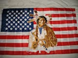 USA United States American Indian Cherokee Flag SuperPoly 3x5 Flag