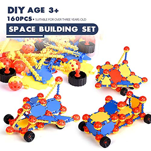 WK- Puzzle Assembly Building Set- STEM & DIY Toys, Three-Dimensional and Full of Spatial Greativity, Original 160PCS, Creative & Diversity & Fun, Gift for Kids Over Three Years Old ()