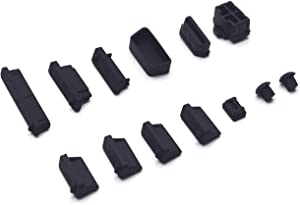 Antrader General Silicone Anti Dust Stopper/Plug-13 Piece Set, Black