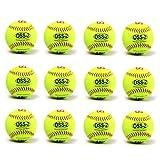"barnett OSS-2 practice softball ball, soft touch, size 12"", white, 1 dozen"