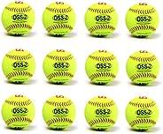 """Barnett OSS-2 Practice Softball Ball, Soft Touch, Size 12"""", Yellow, 1"""