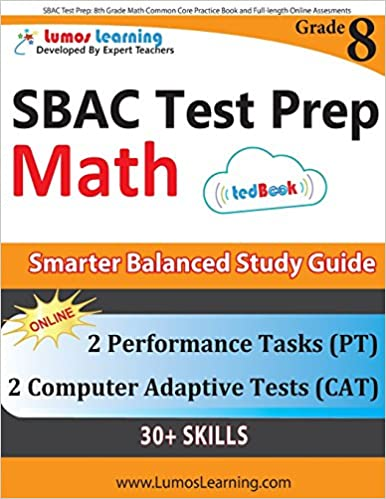 Gratis pdf ekte boknedlasting SBAC Test Prep: 8th Grade Math Common