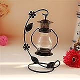 Lovers birthday Christmas classic creative hollow Pavilion wrought-iron Table Light , black