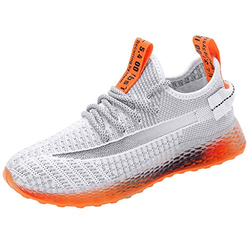 AOJIAN Shoes Workout Casual Sports Outdoor Breathable Lightweight Running Soft Gradient Sneakers Shoes for Women White