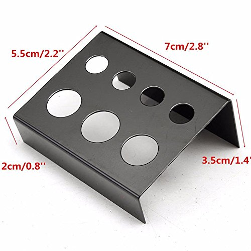 1PC Black Stainless Steel Tattoo ink cup holder Stand 7 Holes Supply (Tattoo Caps Holder Stand)
