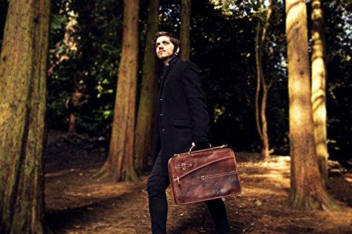 Aktentasche Mann Leder Laptoptasche Briefcase Schultertasche Arbeitstasche Bag Business Tasche Man