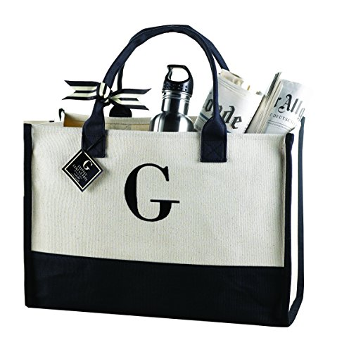 Mud Pie R-Initial Canvas Tote - Everyday Tote Shopping Results