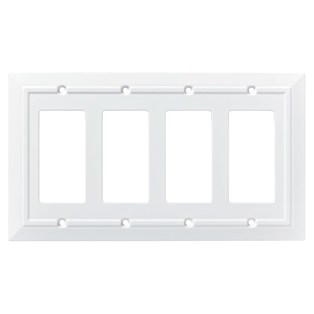 Franklin Brass W35252-PW-C Classic Architecture Single Switch Wall Plate/Switch Plate/Cover, White
