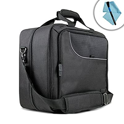 USA GEAR Case for Epson WorkForce WF-100 Wireless Mobile Printer and Accessories Case with Carrying Strap , Padded Scratch-Resistant Lining - With Storage for Paper , Power Adapter , Ink Cartridges
