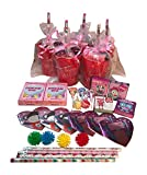 Valentine's Day Pre-Filled Favor Gift Bags! Valentines Day Party Favors & Valentines Day Gifts! Set of 3