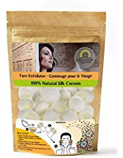 Face Exfoliator Natural Cocoon Scrubs Premium Quality Facial Cleaning Blackhead Remover by Marrakech Secrets
