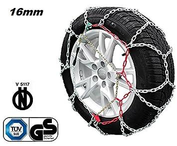 Cadenas para nieve 4x4 homologadas Onorm, 16 mm, V5117 RV-265: Amazon.es: Coche y moto