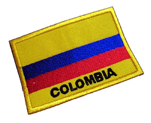 Republic Of Colombia Colombian National Flag Sew On Patch Free Shipping
