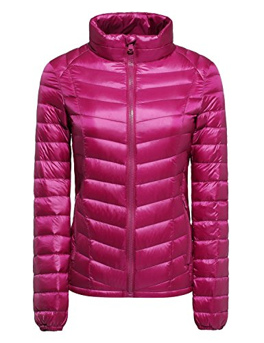 CHERRY CHICK Women's Ultralight Packable Down Jacket (Ideal for Spring & Autumn) Purple Rose-jt