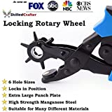 Leather Hole Punch by Skilled Crafter Easily Punches Perfect Round Holes. FREE Ruler & Awl Tool. Our Best Professional Puncher for Belt, Saddle, Tack, Watch Strap, Shoe, Fabric, Eyelet etc + 2Yr Wrnty