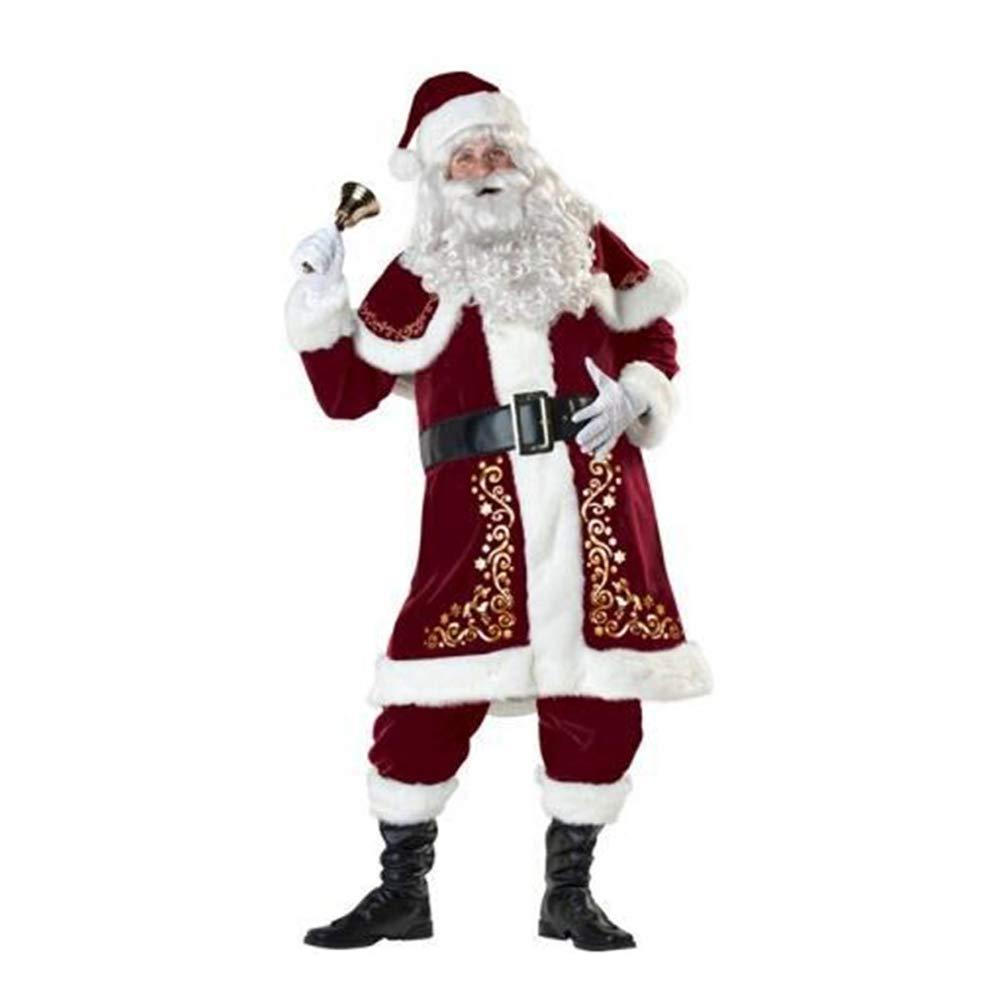 Olydmsky Weihnachtskostüm Damen,Luxus Santa Claus Kostüm Set Weihnachten Kostüm