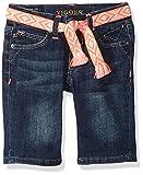 VIGOSS Big Girls' Bermuda Short, Belted Blueberrycrm, 12