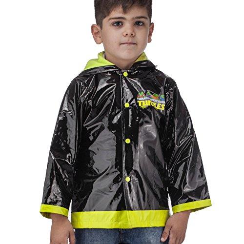 Nickelodeon Little Boys Teenage Mutant Ninja Turtles TMNT Waterproof Outwear Hooded Rain Coat - Toddler