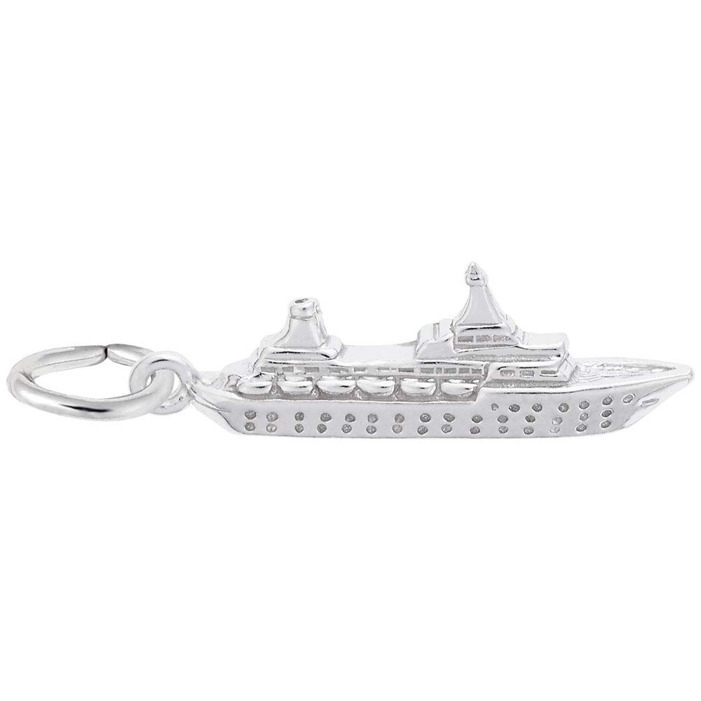 Sterling Silver Small Cruise Ship Charm Baxley Jewelry 2020