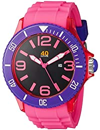 Unisex 40NINE01/PINK1 Extra Large 50mm Analog Display Japanese Quartz Pink Watch
