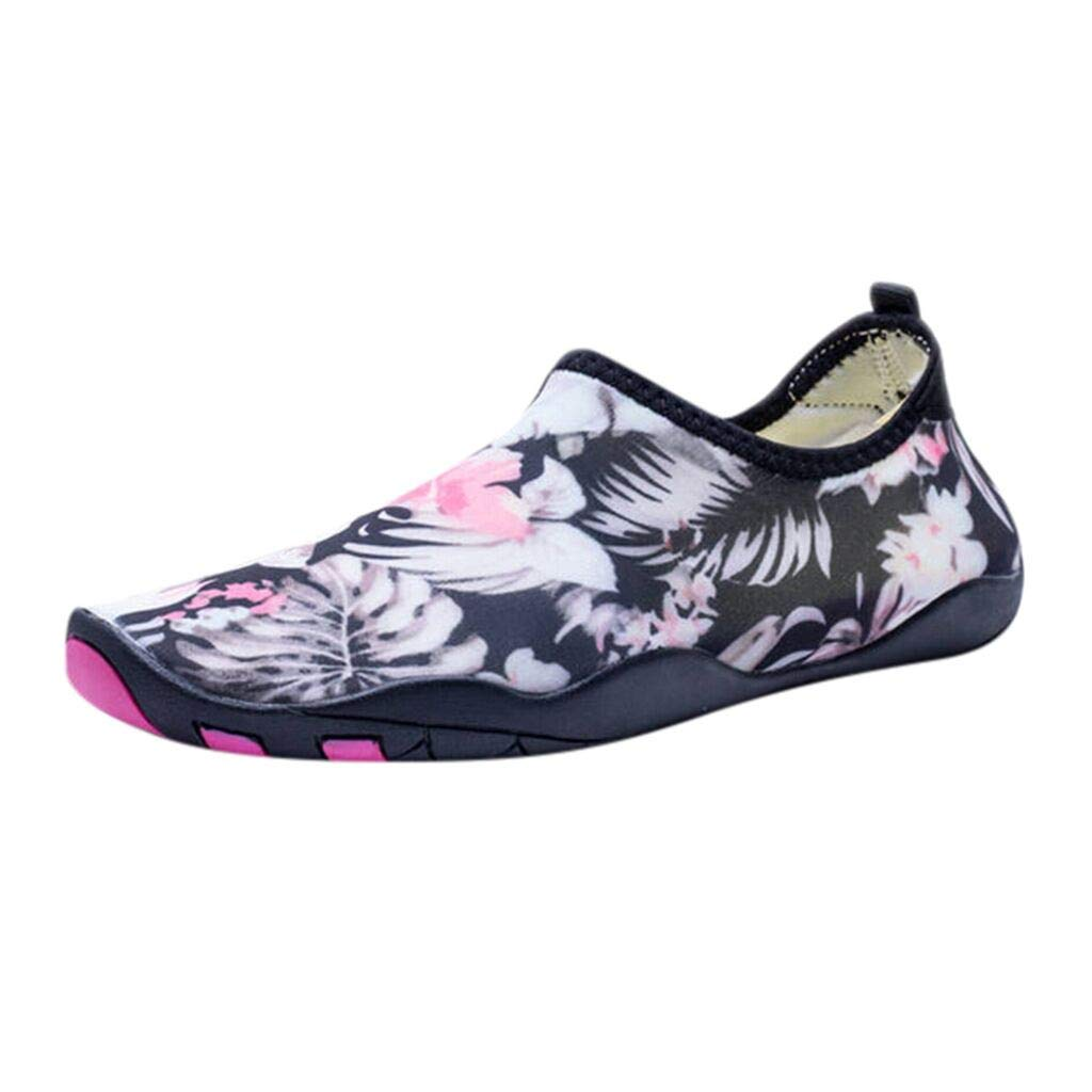 Water Shoes for Men Women Barefoot Flowers Beach Shoes Quick-Dry Aqua Shoes Swim Shoes Water Socks for Swim Beach River Boating Sailing Diving