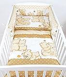 BABYLUX Bettwäsche Bezug 2 Tlg. 100 x 135 cm Kinderbettwäsche Bettwäsche Bettset Babybettwäsche TEDDYBÄREN (60. Teddybären Beige)
