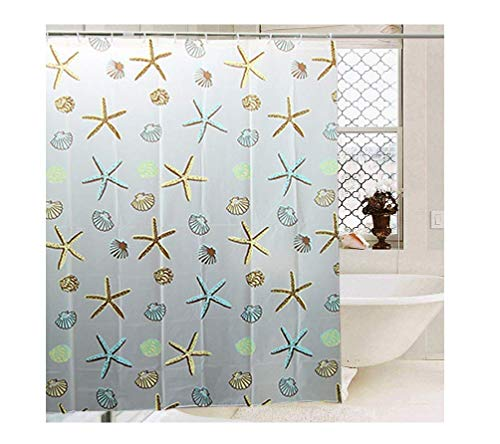 FeliceSuper PEVA Shower Curtain Liner or Shower Curtain, Water Repellent, Weighted Hem, 72 x 72 inches for Bathroom