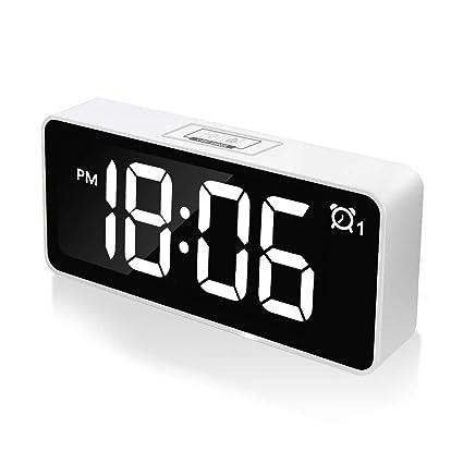 "CHEREEKI Reloj Despertador Digital, Relojes de Pantalla LED de 4.6""con Función de Control"