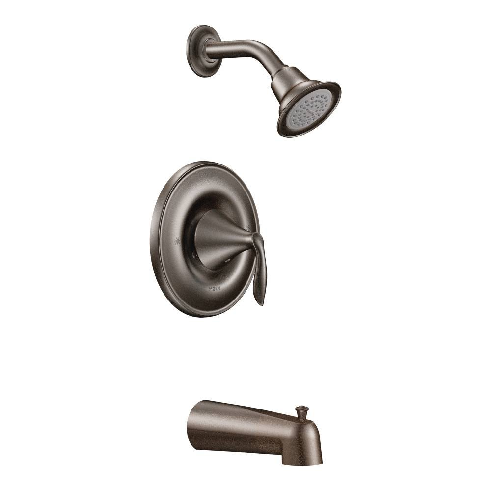 Moen T2133EPORB-2520 Eva Posi-Temp Tub/Shower Valve Trim Kit with Valve, Oil Rubbed Bronze by Moen