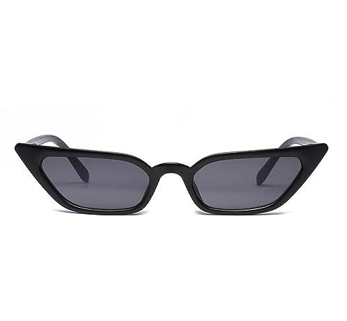 3ecd4e703bb2 Small Frame Skinny Cat Eye Sunglasses for Women Colorful Mini Narrow Square Retro  Cateye Vintage Sunglasses