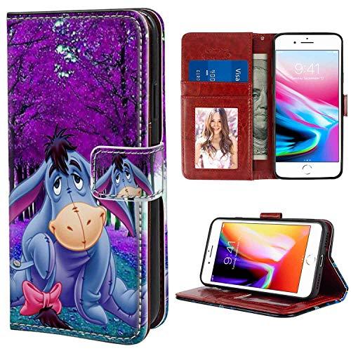 Winnie Pooh Eeyore Wallet Case Fits for Apple iPhone 8 Plus, iPhone 7 Plus (5.5in)