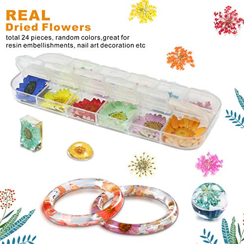 50 Pack Resin Jewelry Making Supplies Kit LET'S RESIN Art Craft Supplies for Resin, Slime, Nail Art, DIY Craft, Including Glitter Sequins,Pearl Pigment, Mylar Flakes, Dry Flowers, etc by LET'S RESIN (Image #4)