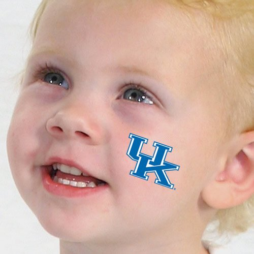 Wildcats Tattoo - Kentucky Wildcats Logo Game Face Temporary Tattoos