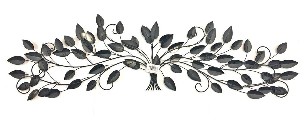 Bellaa 21987 Tree of Life Metal Wall Art Plaque Scroll 52 inch by Bellaa