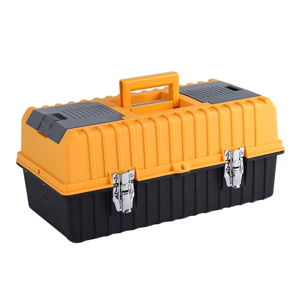 Agywell Portable 17'' Plastic Toolbox with 3-Tray