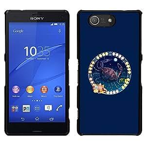 A-type Arte & diseño plástico duro Fundas Cover Cubre Hard Case Cover para Sony Xperia Z4v / Sony Xperia Z4 / E6508 (Zodiacal Cancer)