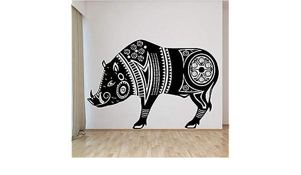 Diseño de jabalí vinilo pegatinas de pared para la decoración del ...