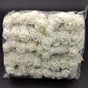 Bouquet - 144pcs Lot 2.5cm Mini Foam Rose Artificial Flower Bouquet Multicolor Wedding Decoration Fake Bubble - Supplies Card Display Chocolate Materials Shirt Flowers Tapestry Fresh Silver Un 13