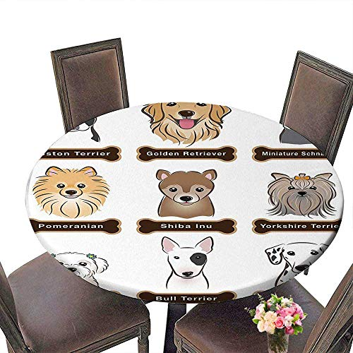 Round Table Cloth for Foot Table in Washable Polyester(Elastic Edge) duitable for all occasions, (70