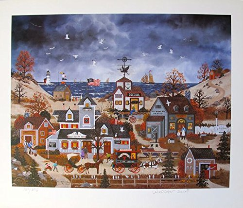 Art by Jane Wooster Scott Home Before Dark Hand Signed Limited Ed. Lithograph Print. After the Original Painting or Drawing. Paper 13 1/2 Inches X 15 1/4. - Limited Ed Hand Signed