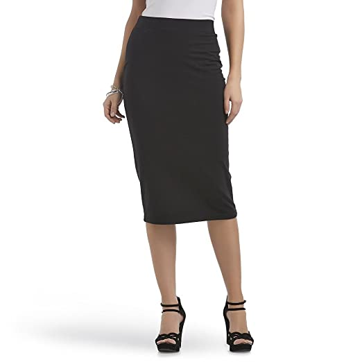 06895b020 Route 66 Women's Knit Pencil Skirt, Black, Small at Amazon Women's ...