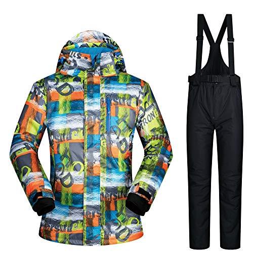 C1 Snowboard Set Impermeabile Dimensione Uomo Chengzuoqing Giacca Da Di Sci colore Per Tuta Colorati Xl C2 Pantaloni fwxRHaq