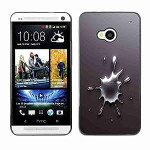 Planetar® ( Chrome Splash ) Fundas Cover Cubre Hard Case Cover HTC One (M7)