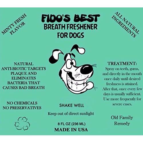 best Dog Breath Freshener FIDO'S BREATH FRESHENER FOR DOGS