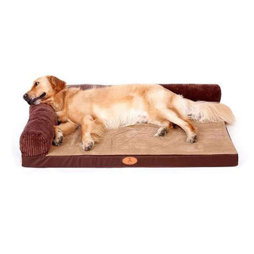 GQQ Pet Sponge mat Pet mat Cat Dog mat Large Dog Sofa Cushion cat mat pet Supplies pet cat Home Sleeping mat Pet Sofa Brown Love pet Large Size Sofa Comfortable Gift (Color : Brown, Size : M)